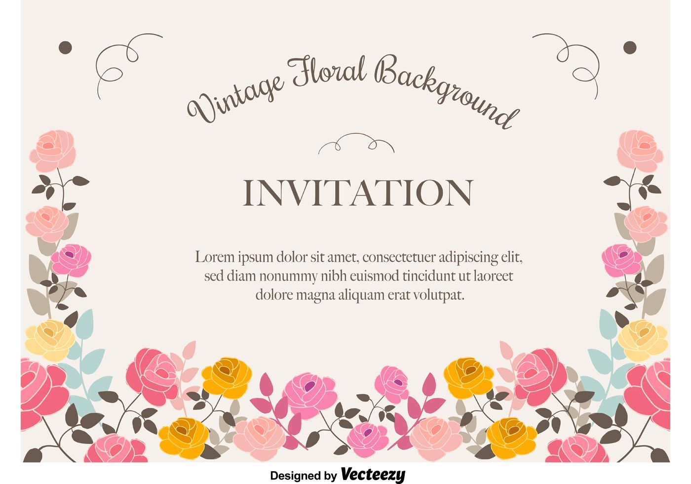 Floral invitation background vector pinterest floral 01f3e66effc24c468fb2c3339bcbb892g stopboris Gallery