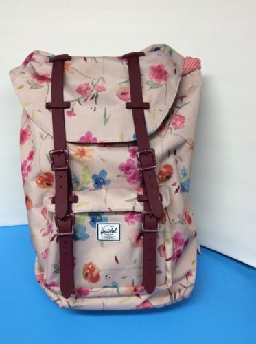 1d82c83161b Herschel Supply Women s Little America Backpack Bookbag Ruby Khaki Large