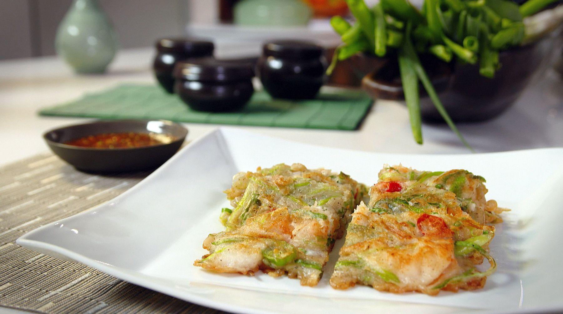 Judy joo shows us simple yet spectacular korean inspired dishes from korean seafood pajeon korean pancake recipe by judy joo food network uk forumfinder Choice Image