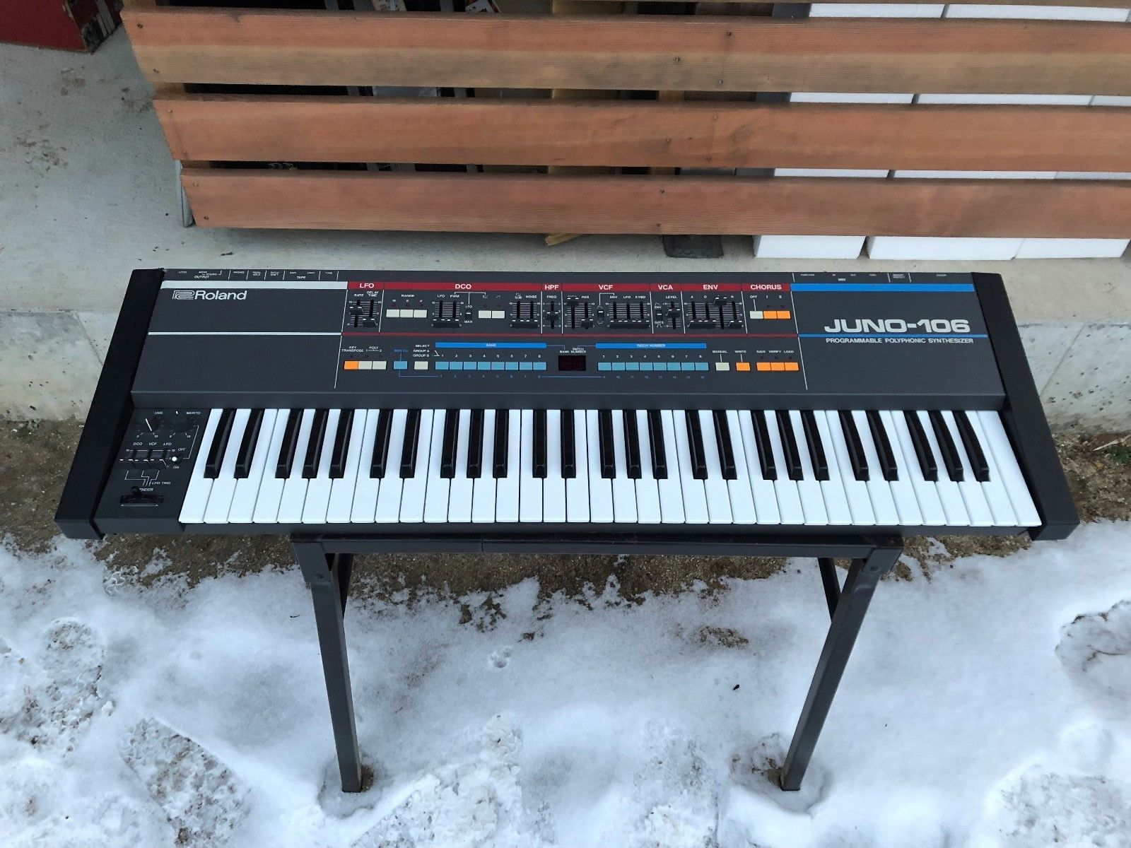 Roland JUNO-106 6 voice polyphonic synthesizer serviced