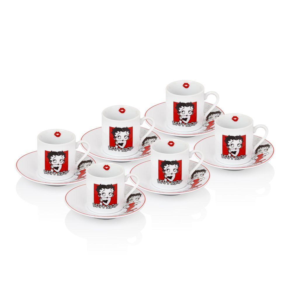 Betty Boop Kahve Fincani Seti Coffee Cup Set Bernardo