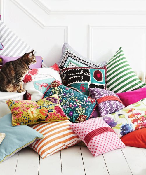 Heart Handmade UK: Spring Colours And Interior Inspiration from Heart Home Magazine minus the cat