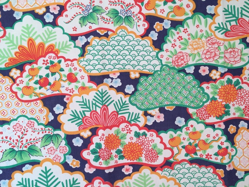 vtg wamsutta full flat sheet kimono asian 1970s fabric percale retro floral wamsutta asianmodern vintage