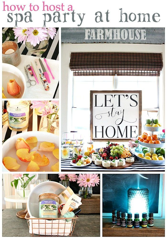At Home Spa Party | Spa party, Diffusers and Spa