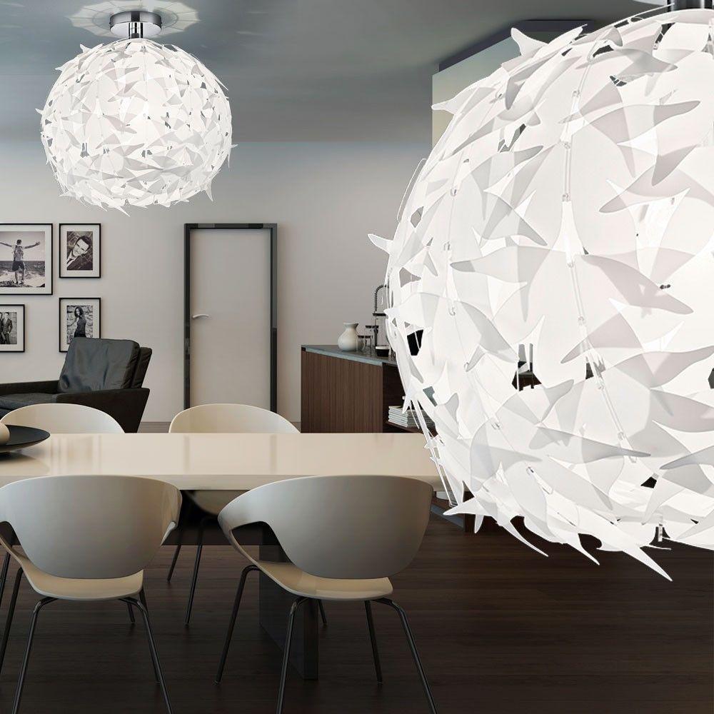 Plafonnier led 7w luminaire plafond suspension design lampe boule blanc moder - Plafonnier boule chinoise ...