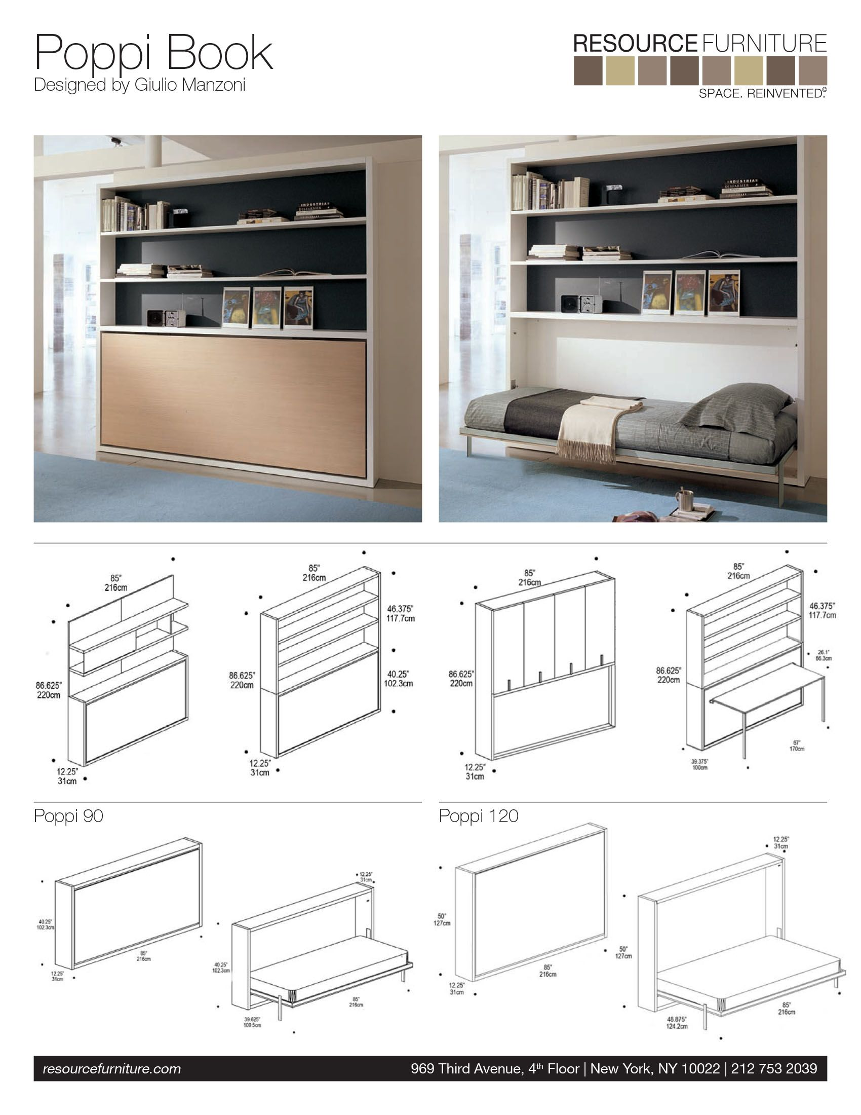 Poppi Book Resource Furniture Wall Beds & Murphy Beds