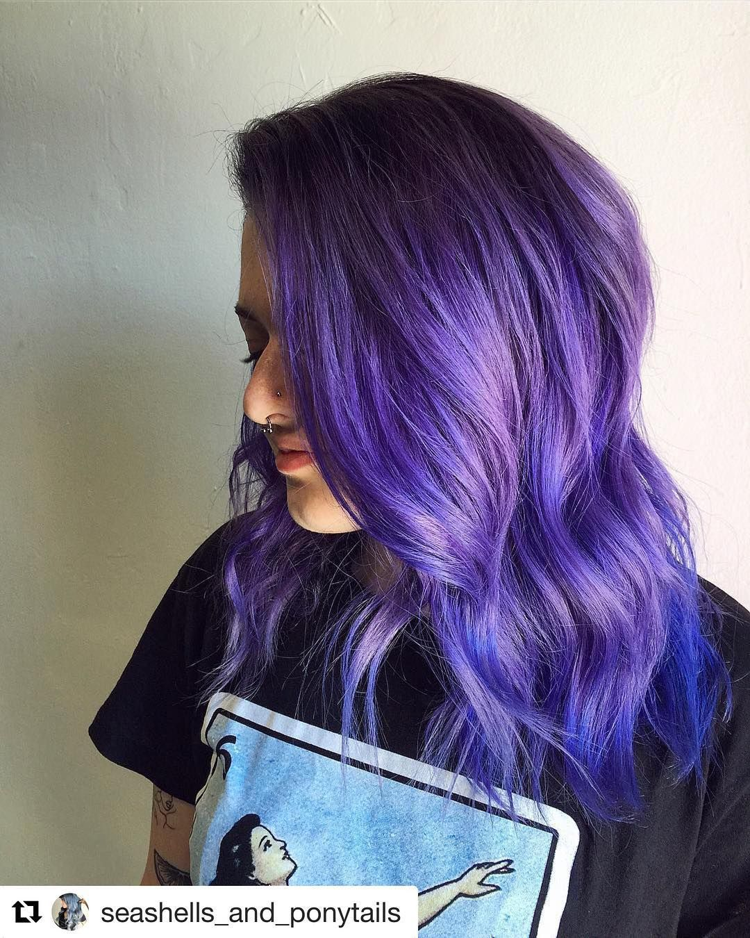 Try Mixing Purple Rain And Aquamarine For A Cobalt Blue Bellazzasalon Seashells And Ponytails Ask For Alexis At Creative Hair Color Fox Hair Dye Hair