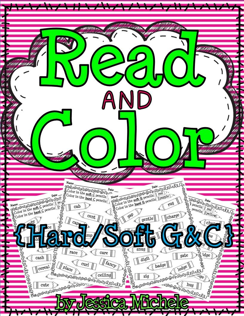 Read and Color {Hard/Soft C and G} | Teacher, Students and Phonics