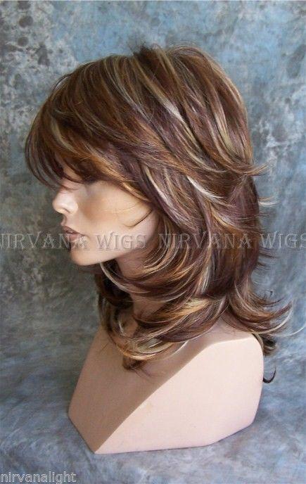 3tone Deep Auburn Copper Blonde Multi Layers Med Long