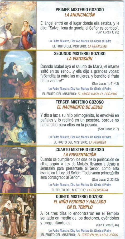 Los Misterios Del Santo Rosario Oracion Para Mi Madre Oraciones Rosarios