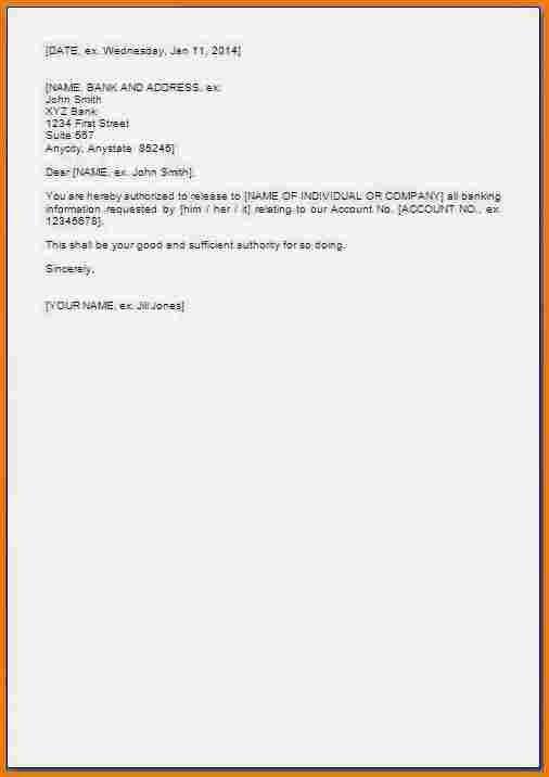 Authorization Letter For Bank Pdf Statement Dialysis Nurse  Home