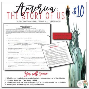 America The Story Of Us Episodes 1 12 Bundle American History