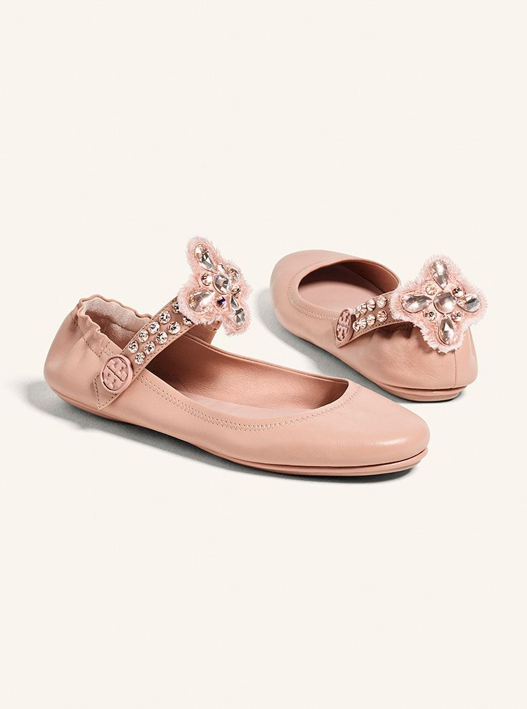 Clothing · Tory Burch Minnie Embellished Flat