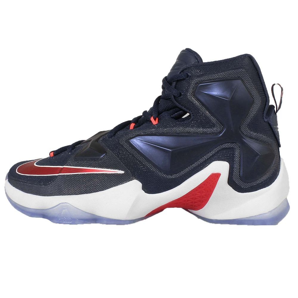 super popular 2d236 137ca Nike Lebron XIII EP 13 USA Lebron James Navy Mens Basketball Shoes  807220-461