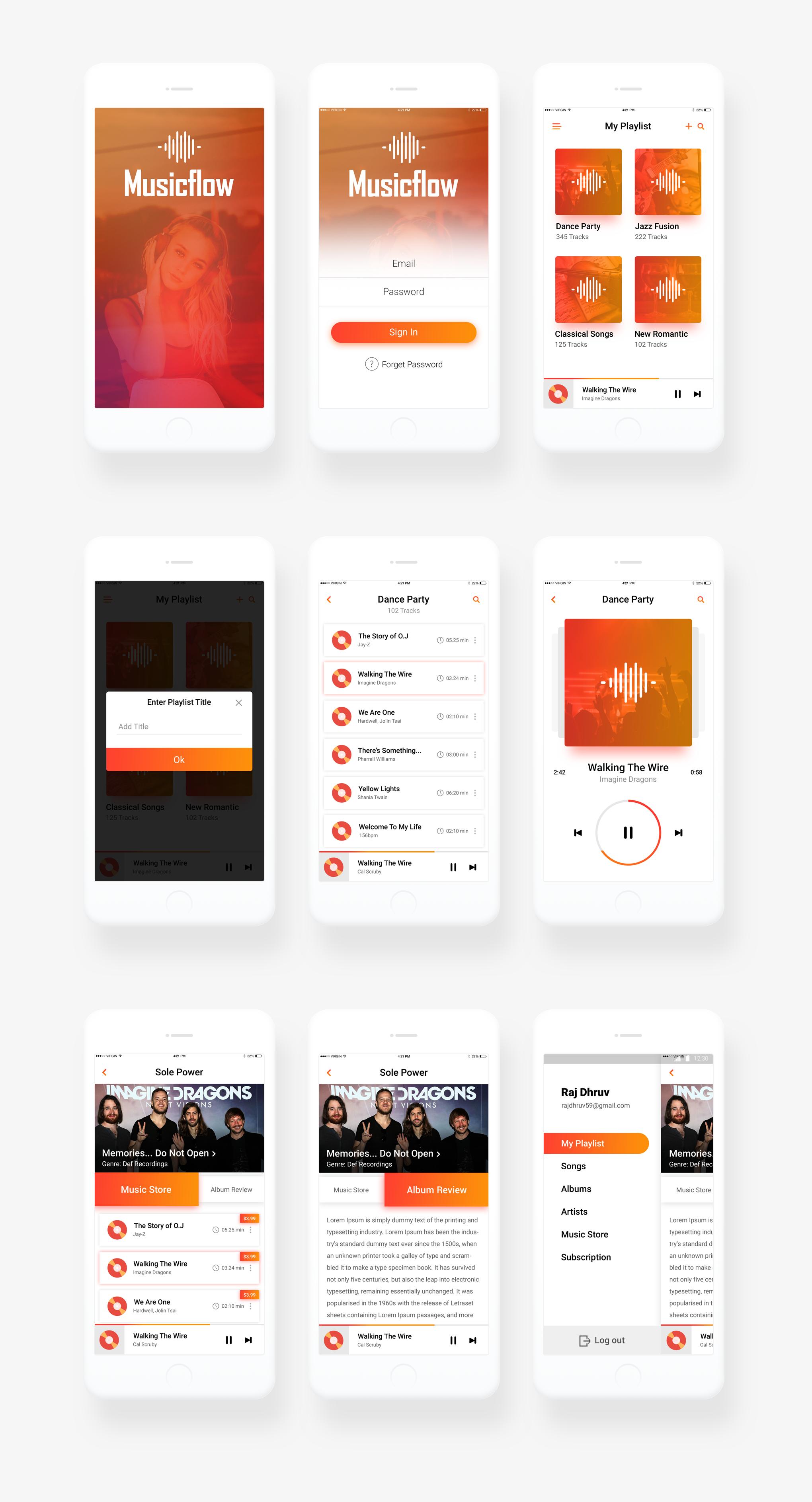 Mockup Music App Design Mobile App Design App Design
