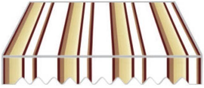 Tenda da sole a caduta cm.300x250 tess.p4007 marrone