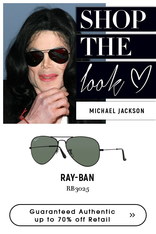 a4f8eea27b Michael Jackson - exclusive style that stands out with #Rayban #men's # aviator #sunglasses.