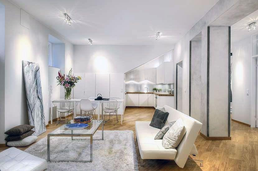 Charmant White Living Room Rug