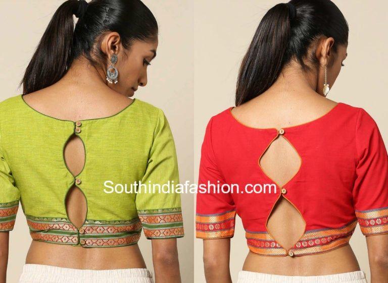 Keyhole Blouse Designs Keyhole Blouse Front And Back Neck Catalogue Blouse Designs Blouse Neck Designs Trendy Blouse Designs