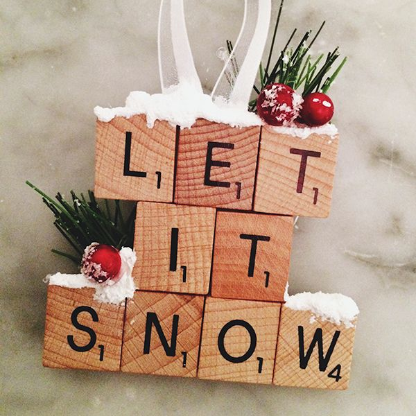 Diy life scrabble christmas ornaments elvis duran and