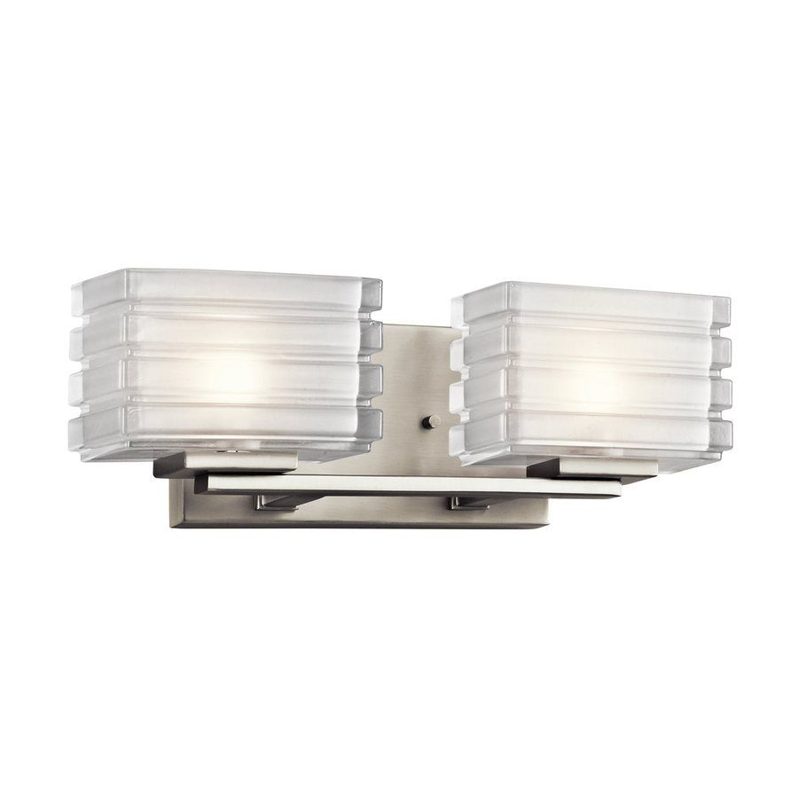 Kichler Lighting 2-Light Bazely Brushed Nickel Modern Vanity Light