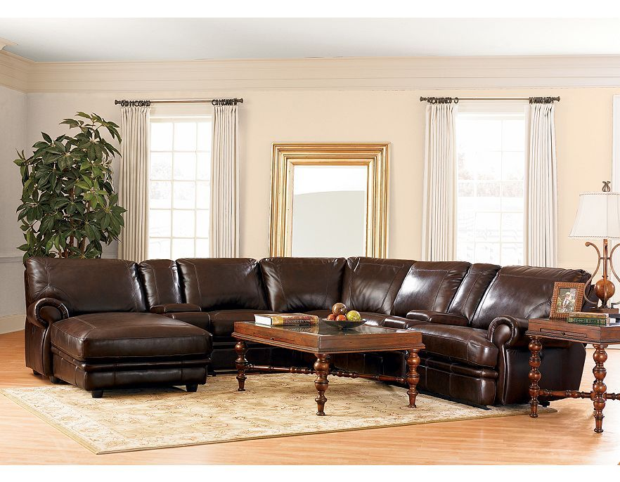 Haverty S Leather Reclining Sectional Living Room Furniture