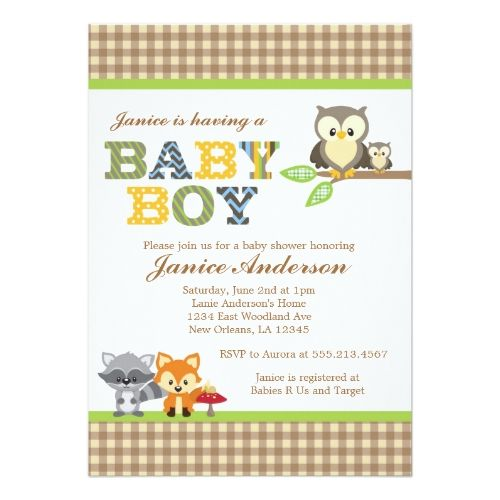 Woodland owl baby shower invitation boy shower invitations owl woodland owl baby shower invitation boy filmwisefo Image collections