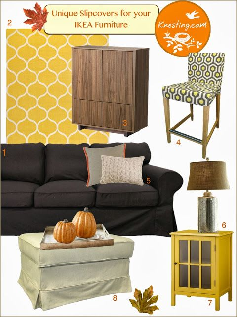 Knesting IKEA Inspiration: Fab Fall Makeover