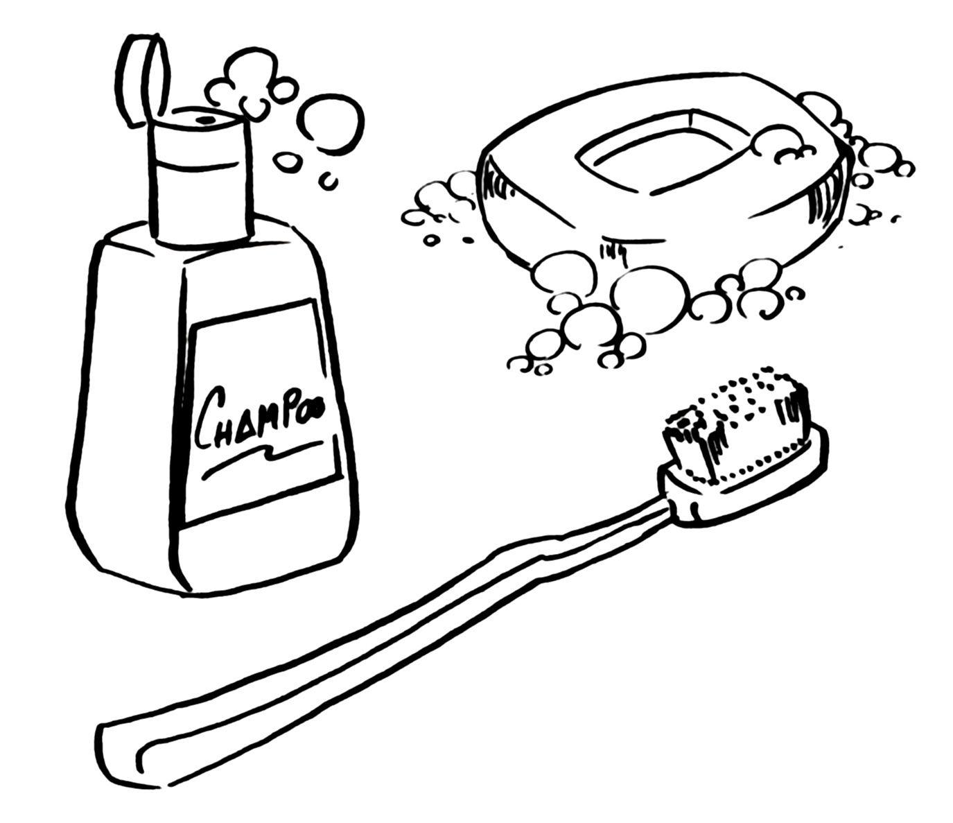 productos de higiene para colorear | Vocabulario Inglés | Pinterest ...