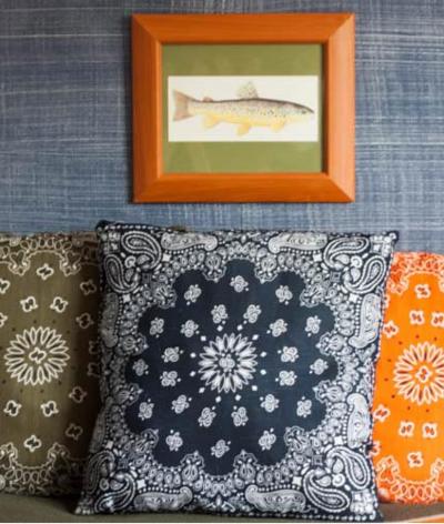 Easy DIY Bandana Throw Pillows