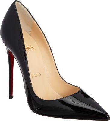 c50b78fcca6 Classic Black Pumps | Heels | Christian louboutin so kate, Christian ...