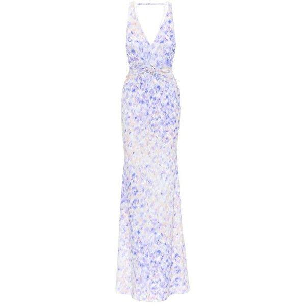 Roberto Cavalli Printed twist-waist gown ($1,400) ❤ liked on ...
