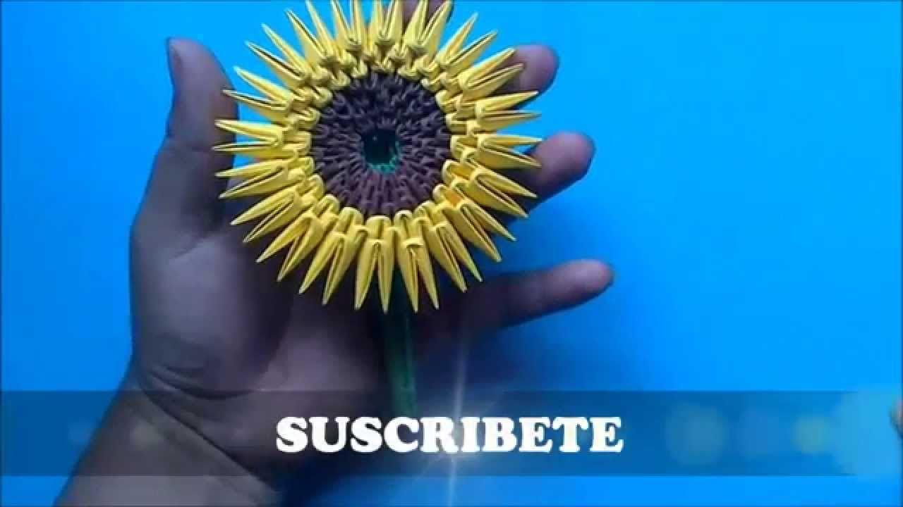 Origami 3D Girasol