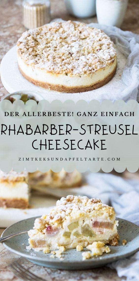Rhabarber - Cheesecake mit Streuseln - cremig und lecker