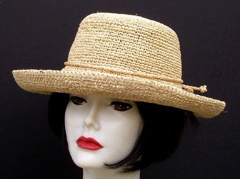 Petite Crochet Raffia for the petite lady and small heads! by HAT-A-TUDE.com 94243cae060