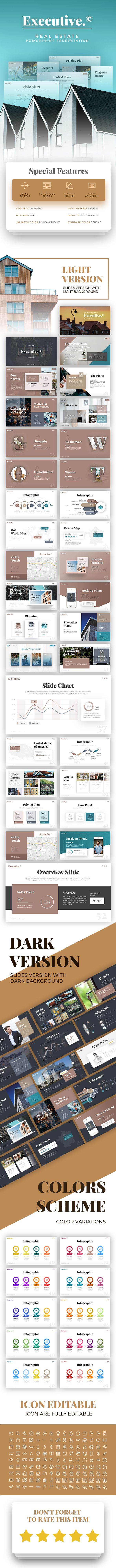 executive real estate presentation template business