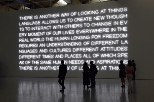 There is another way of looking at things (2012) by Maurizio Nannucci