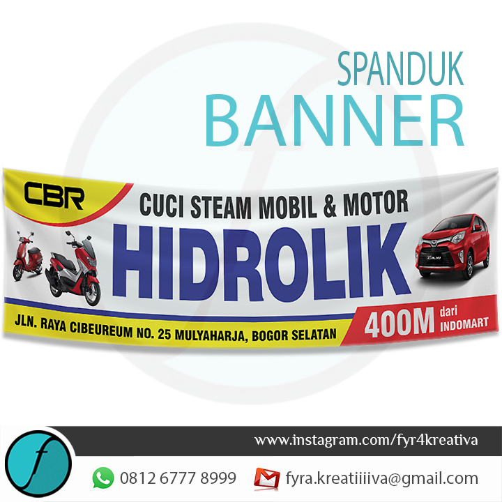 Desain Spanduk Steam Motor - gambar spanduk