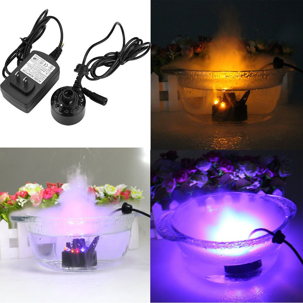 Ultrasonic Mist Maker Water Fogger Indoor Pond Fountain Humidifier Air Atomizer