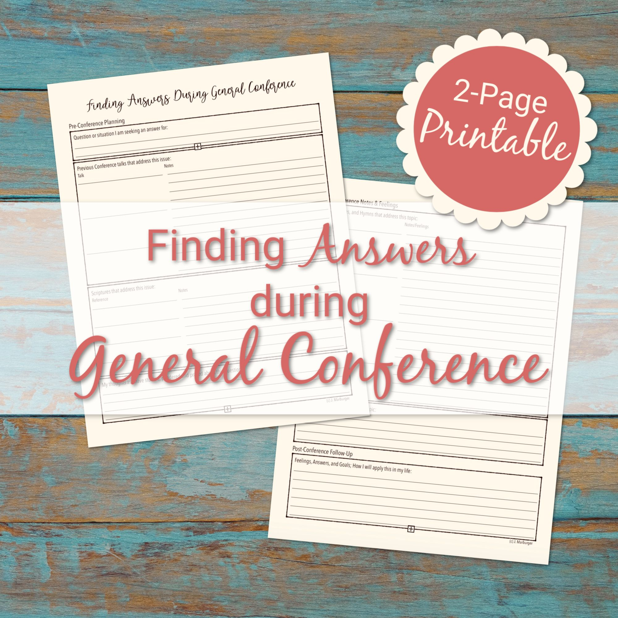 This Printable Guides You Through Seeking Answers During