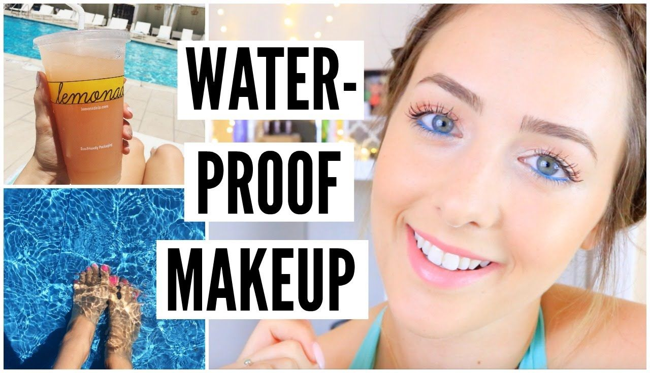 EASY Drugstore Waterproof Makeup!  Pool makeup, Waterproof makeup