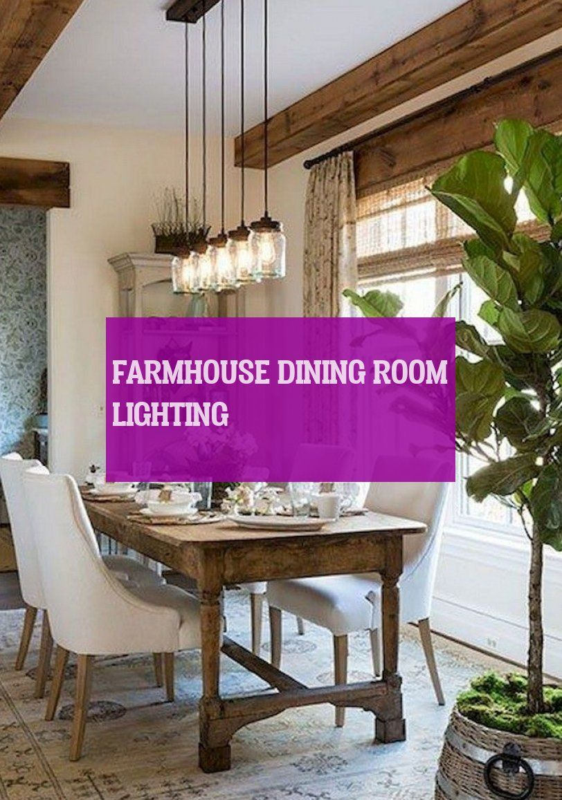 farmhouse dining room lighting