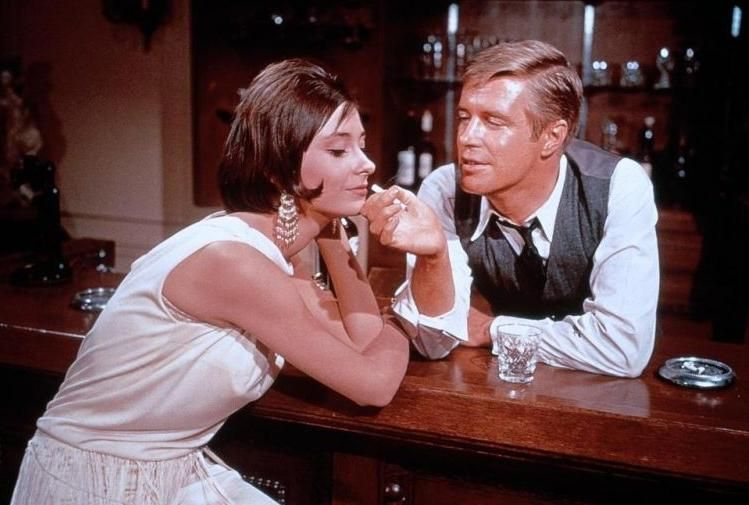 Image result for elizabeth ashley and peppard in the carpetbaggers