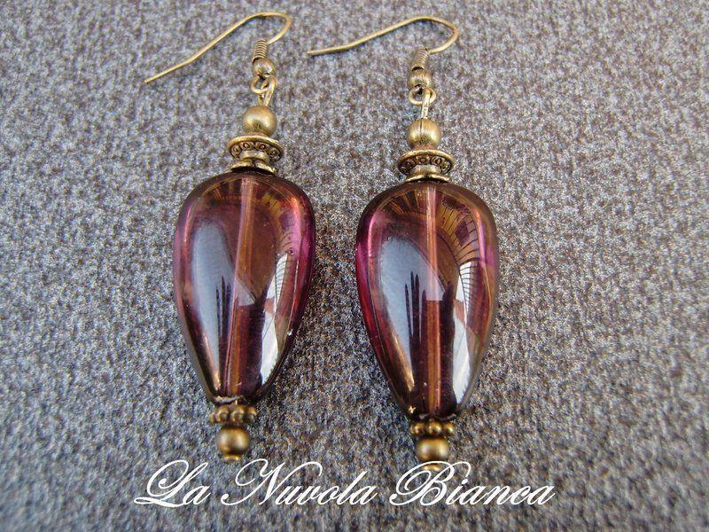Vintage Ohrring   Mystisches Lila von La Nuvola Bianca auf DaWanda.com