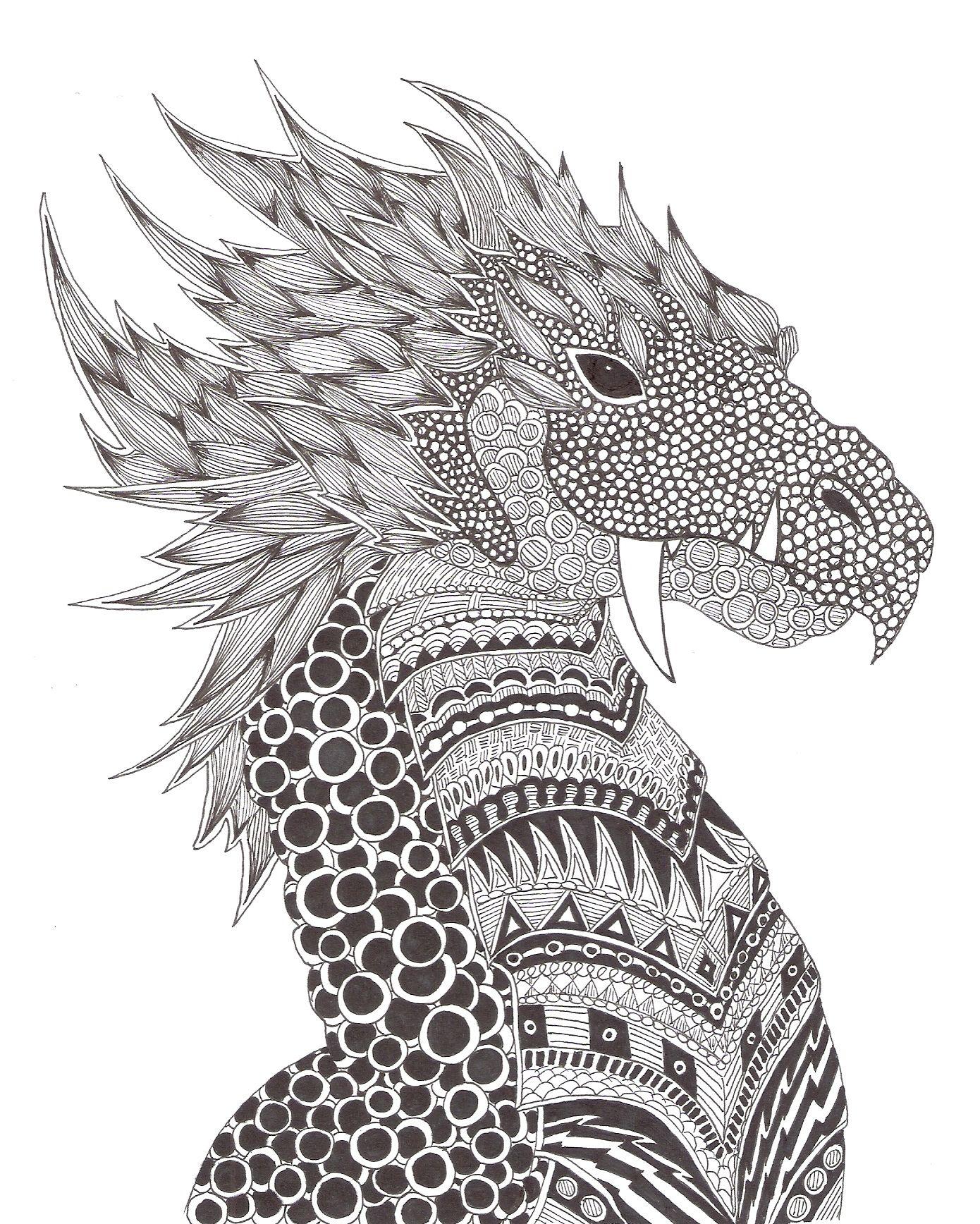 Zentangle made by Mariska den Boer 149 | Art<3 | Pinterest | Drachen ...