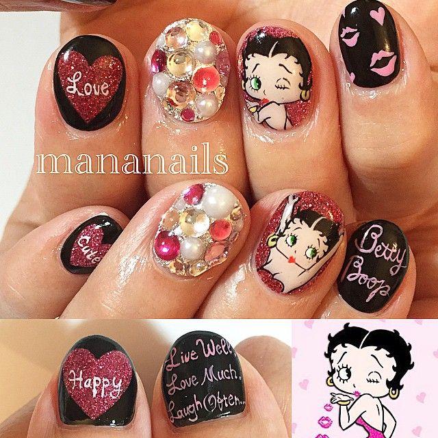 Betty Boop Nails: Betty Boop, Nail Art, Nail Designs