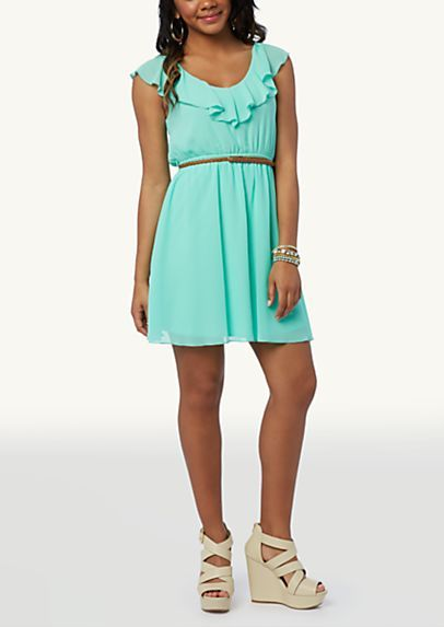 image of Ruffled V-Neck Dress. rue 21 | V neck dress