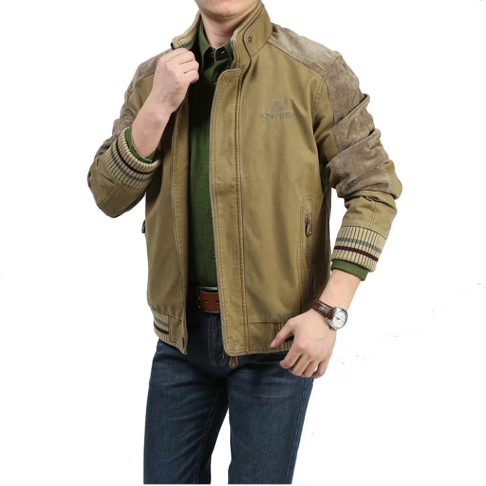 59.15$  Buy here - http://aliy17.worldwells.pw/go.php?t=32599594673 - 2016 New Arrival Men's Jackets 100% Cotton Plaid Green/Khaki Military Style Jackets Outdoor Jacket Coat for Men Plus Size M-5XL 59.15$