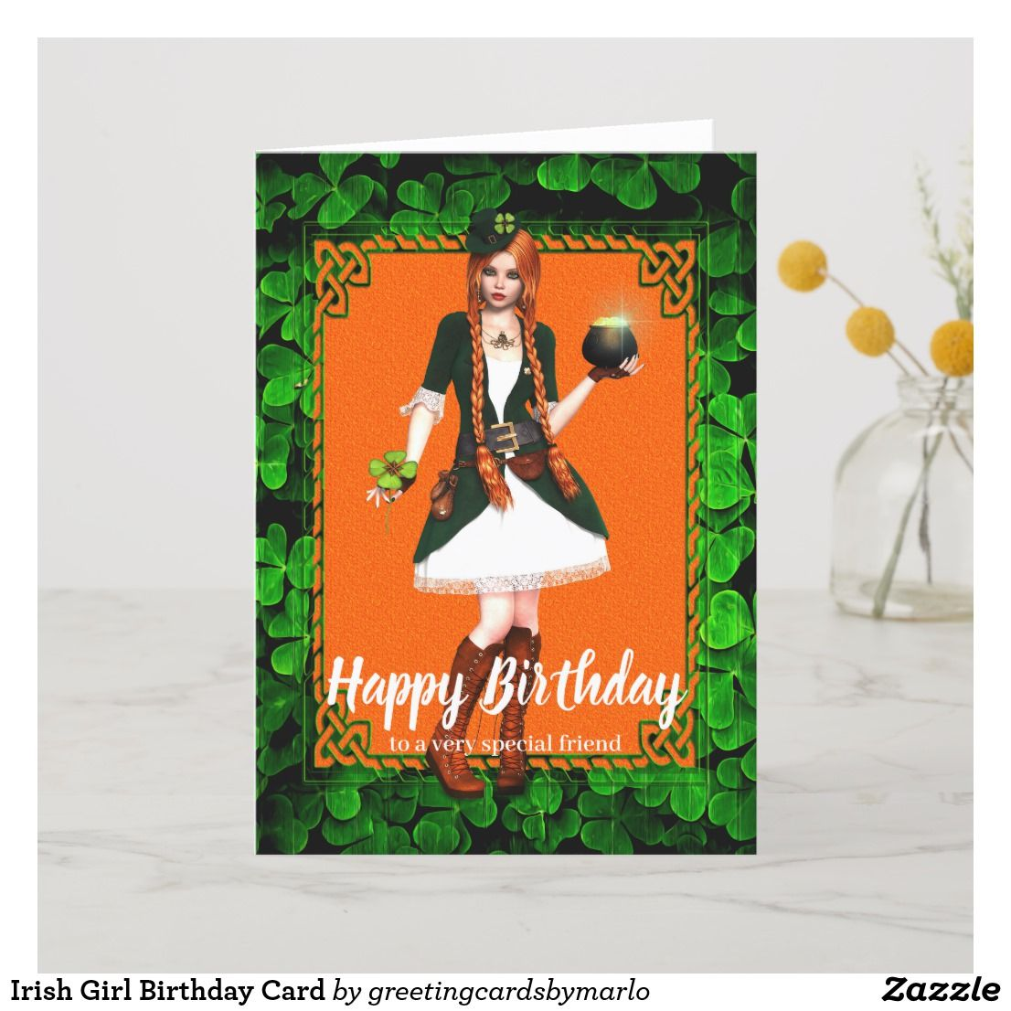 Irish Girl Birthday Card Girl birthday