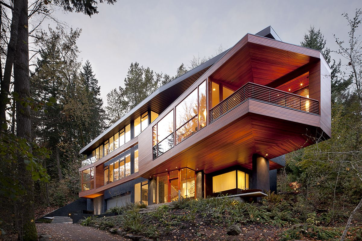 Jeff Kovel Architect Twilight House Contemporary Building Architecture